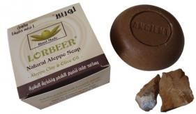 4 Olive oil soap with other oils (bio / organic): LORBEER Soap with Aleppo Clay ( 406 )
