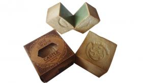 1- Traditional Aleppo Laurel Soap: Traditional Curve Castle (132)