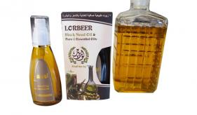 8-  (7) pure natural oils for hair & skin: LORBEER 7  Hair Oils ( Black Cumin Oil ) ( 806 )