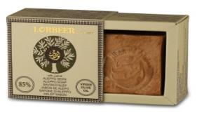 1- Traditional Aleppo Laurel Soap: LORBEER Aleppo Soap 85% extra Virgin olive oil , 15% Laurel oil (109) B